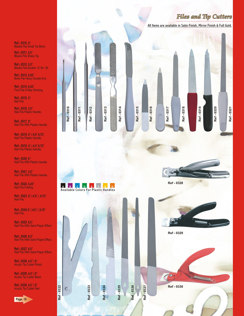 Nail files - nail tip cutters   PL-0310-0330